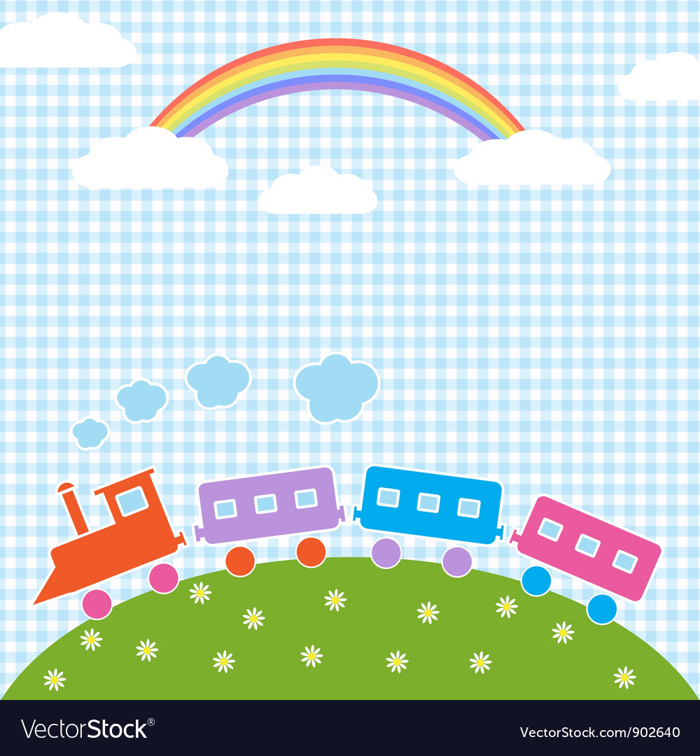 Train and rainbow vector | Price: 1 Credit (USD $1)