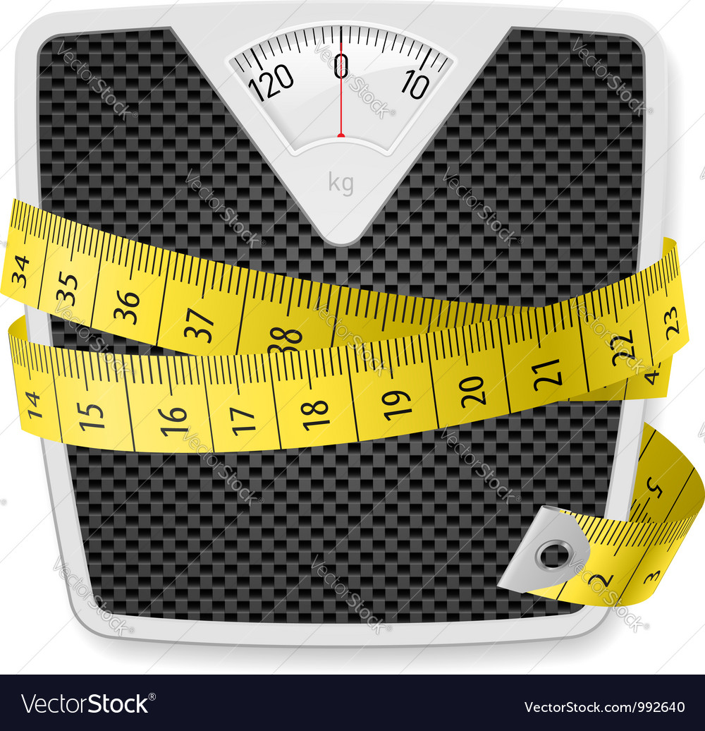 Weights tape measure vector | Price: 1 Credit (USD $1)