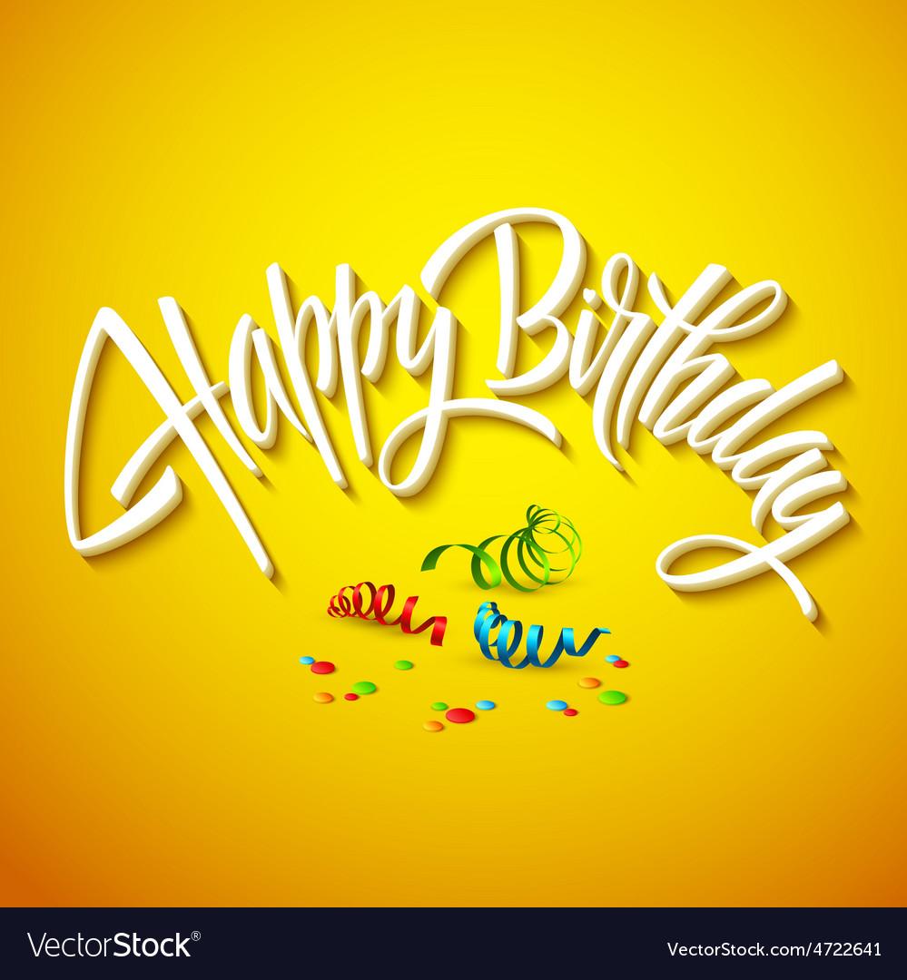 Happy birthday card typography vector | Price: 1 Credit (USD $1)