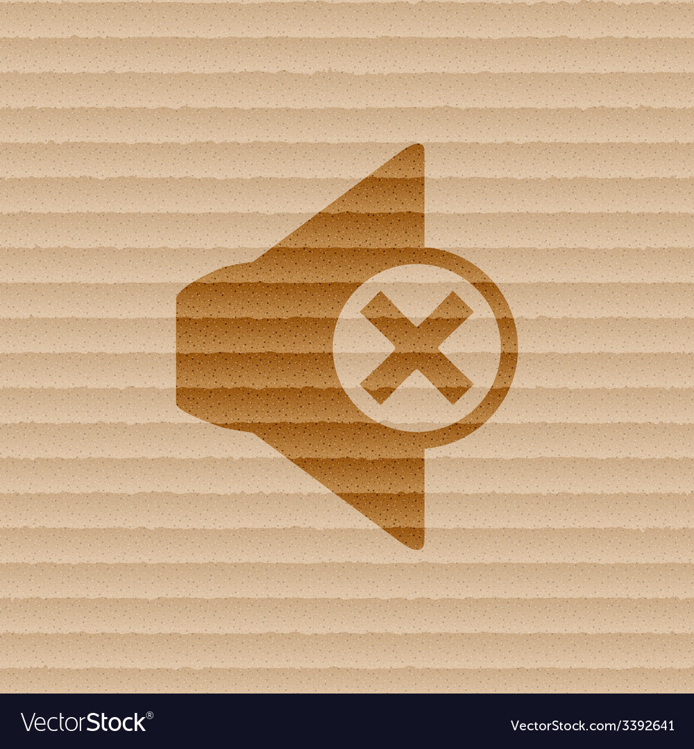 Mute speaker icon symbol flat modern web design vector | Price: 1 Credit (USD $1)