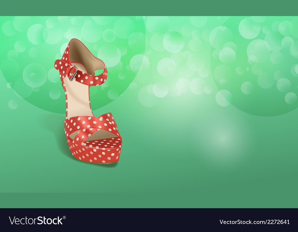 Orange shoe vector | Price: 1 Credit (USD $1)