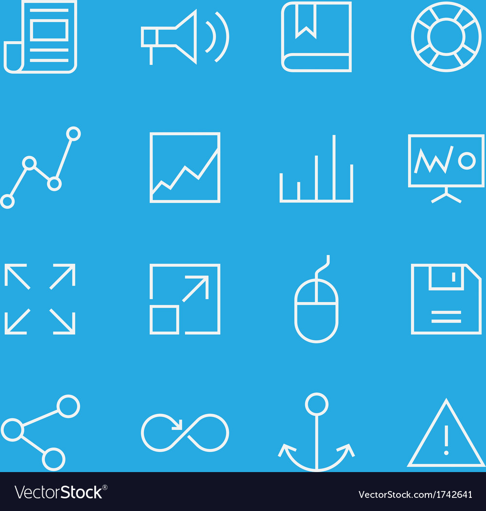 Set of line icons for mobile - web applications vector   Price: 1 Credit (USD $1)