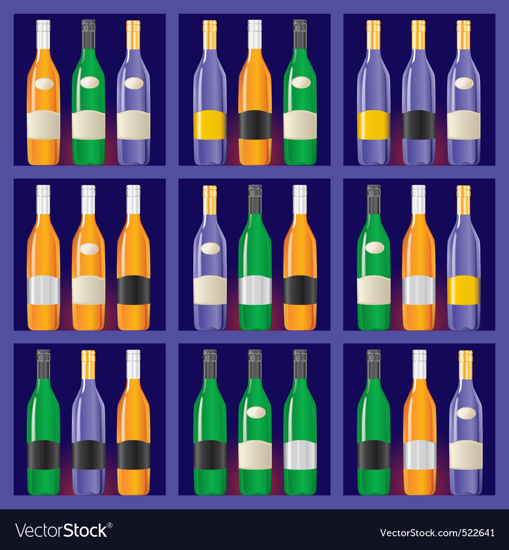 Showcase with bottles vector | Price: 1 Credit (USD $1)
