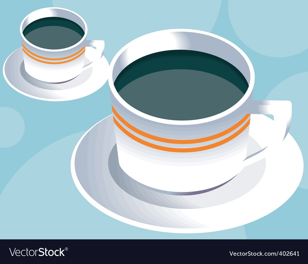 Two coffee cup vector | Price: 1 Credit (USD $1)