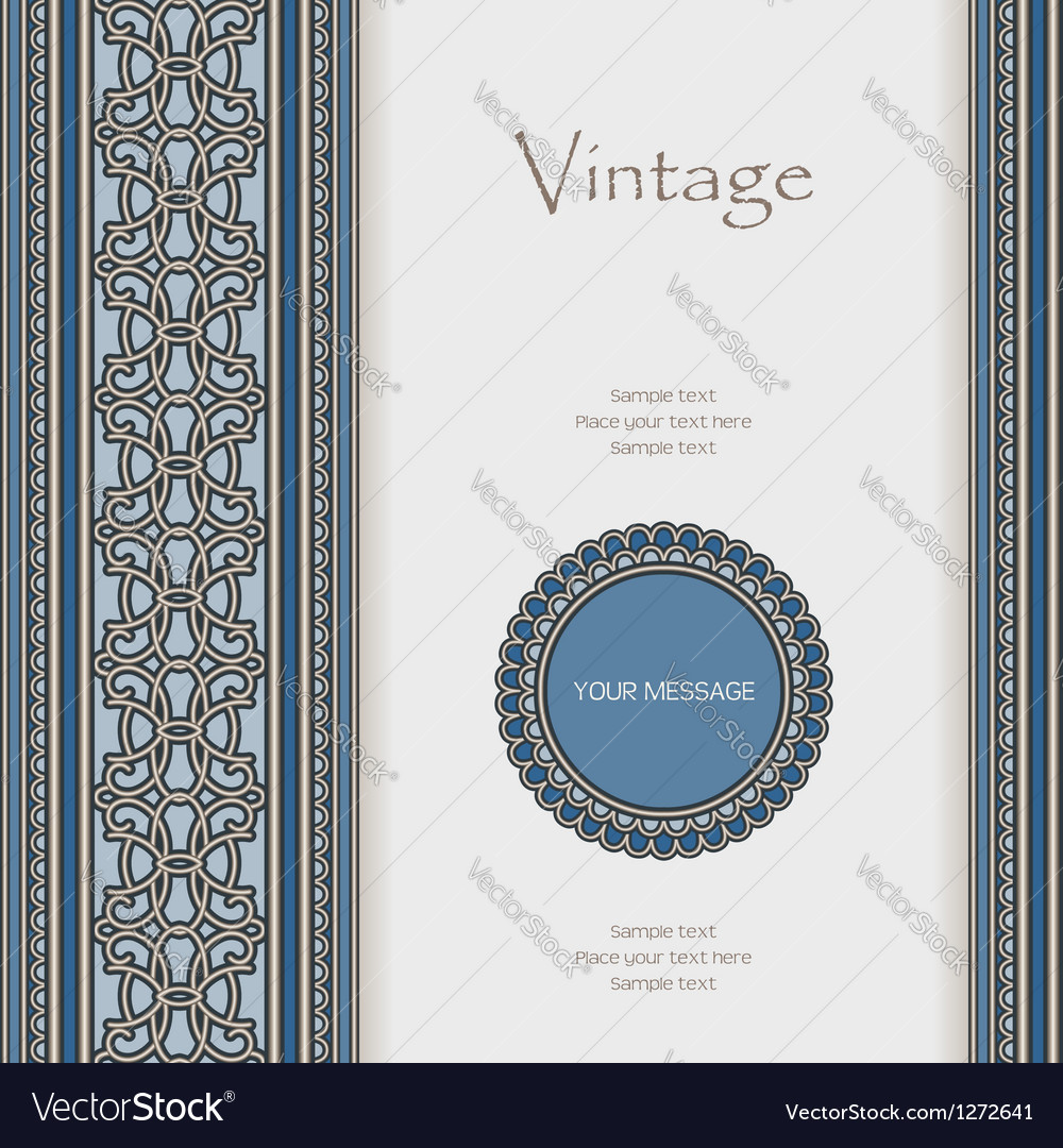 Vintage background with seamless borders vector | Price: 1 Credit (USD $1)