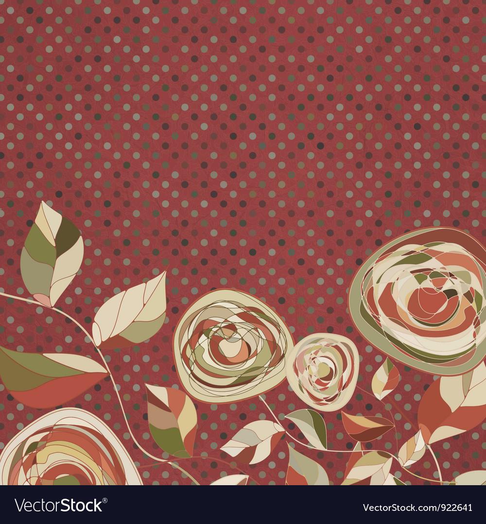 Vintage floral rose background vector | Price: 1 Credit (USD $1)