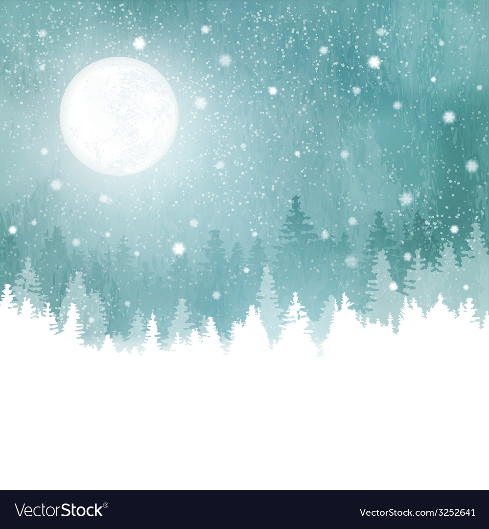 Winter background with fir trees vector | Price: 1 Credit (USD $1)