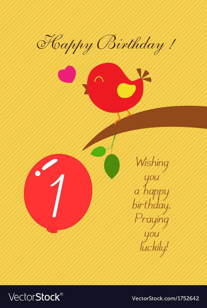 Bird heart birthday vector | Price: 1 Credit (USD $1)