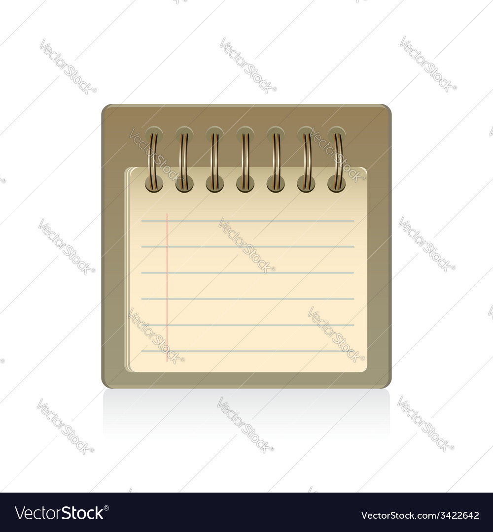 Blank notepad isolated vector | Price: 1 Credit (USD $1)