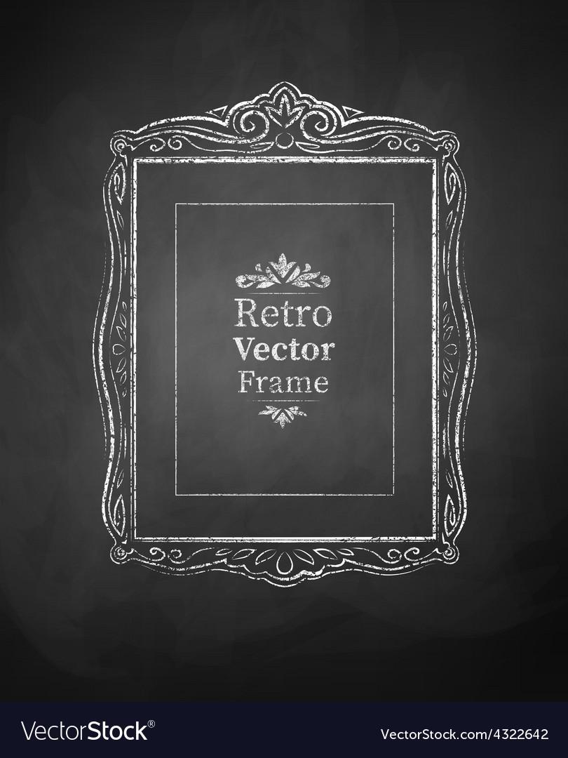 Chalked vintage baroque frame vector   Price: 1 Credit (USD $1)