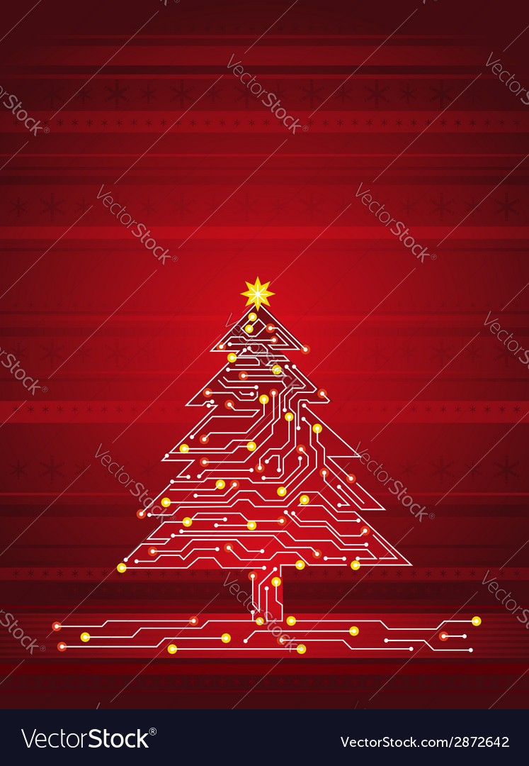 Christmas tree made of electronics elements vector | Price: 1 Credit (USD $1)