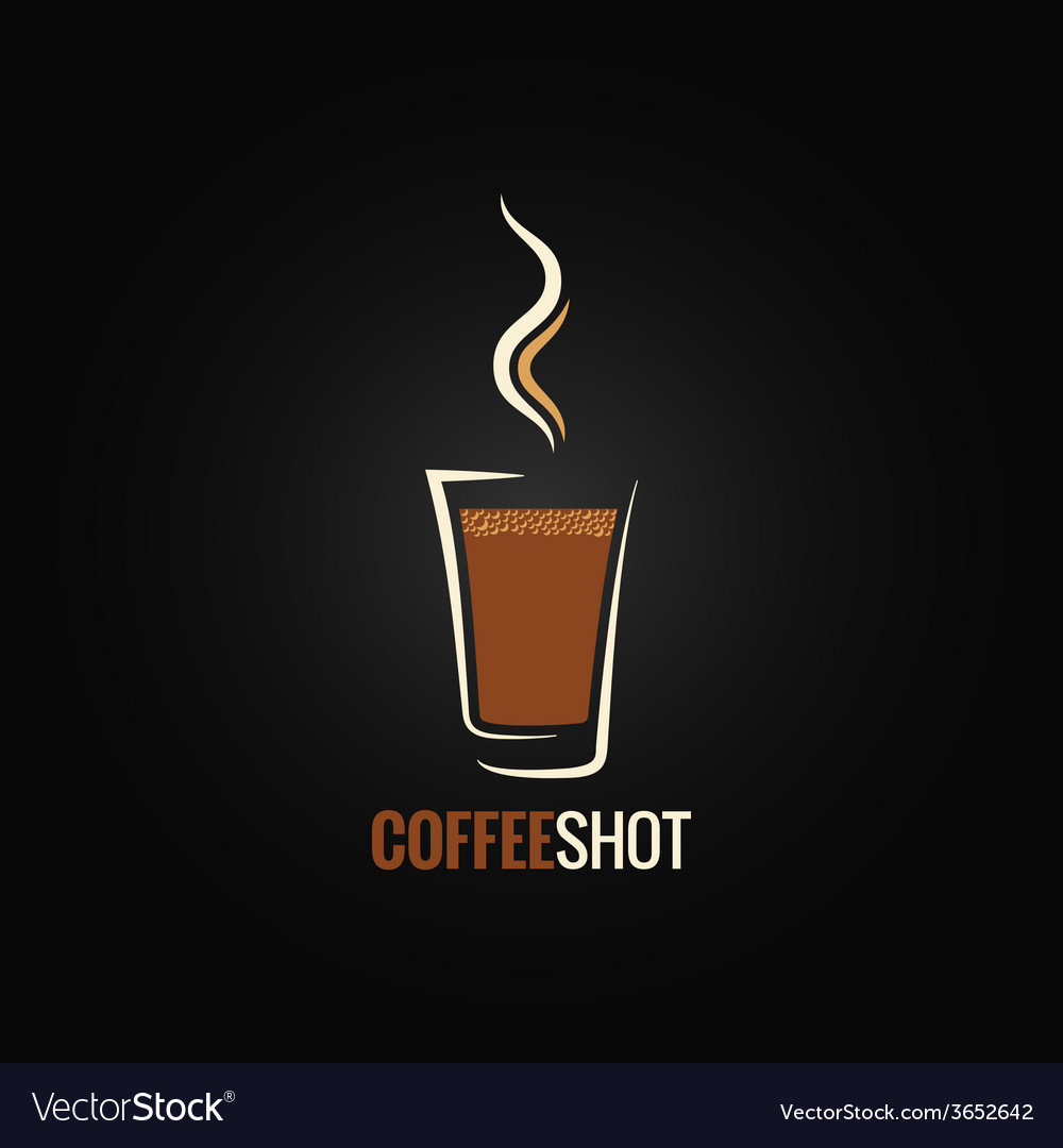 Coffee shot glass design background vector | Price: 1 Credit (USD $1)