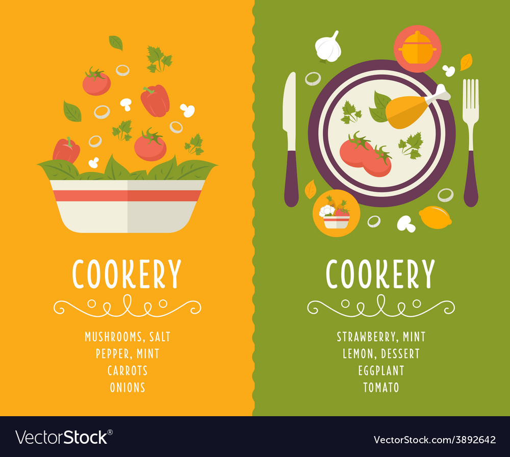 Cooking collection composition vector | Price: 1 Credit (USD $1)