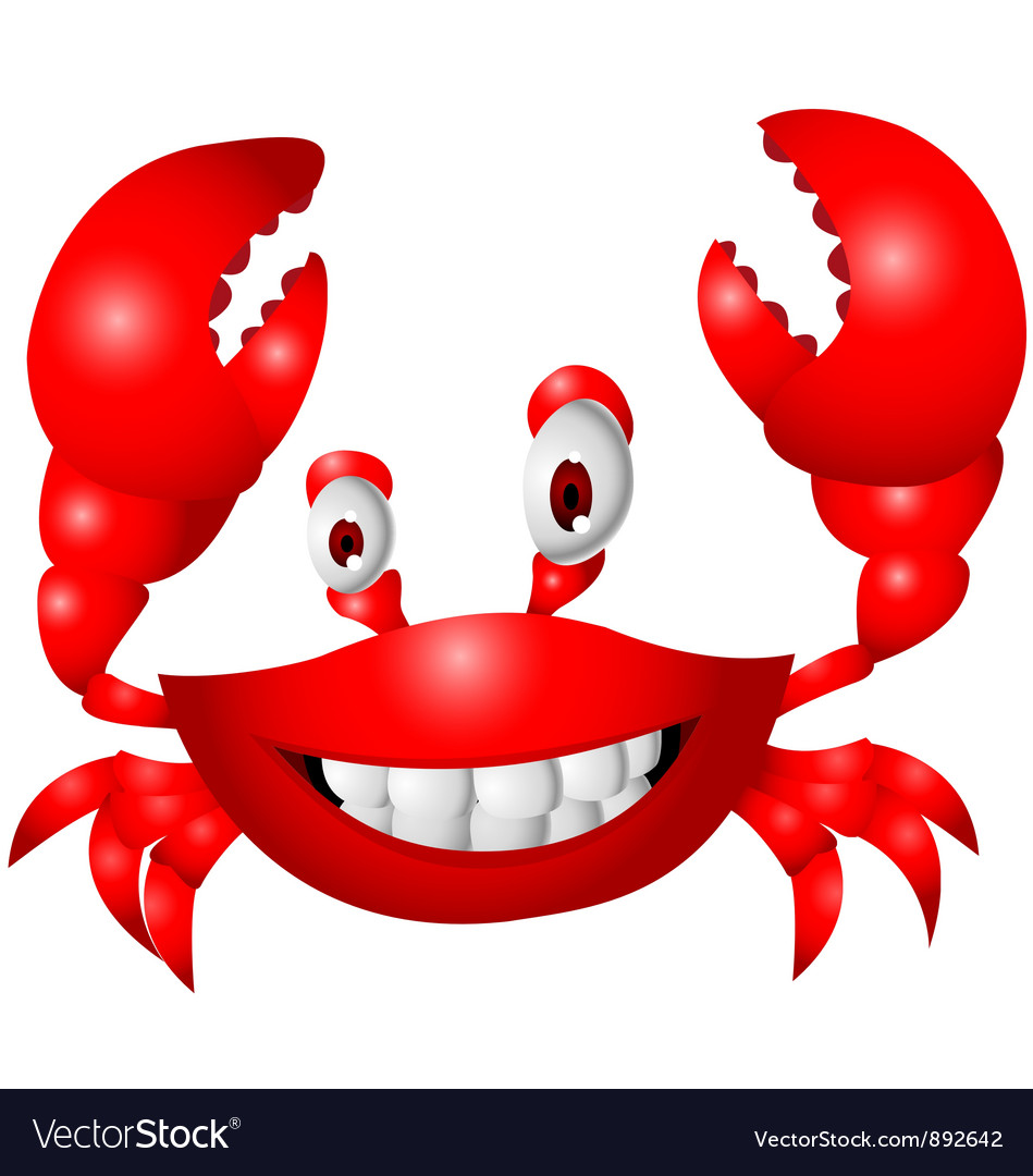 Crab cartoon vector | Price: 1 Credit (USD $1)