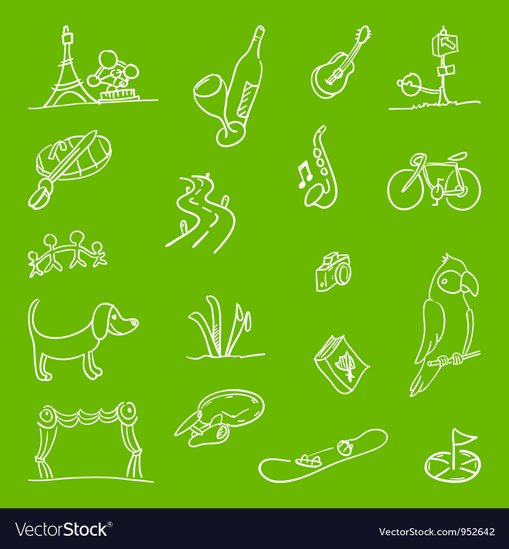 Hobby symbols vector | Price: 1 Credit (USD $1)