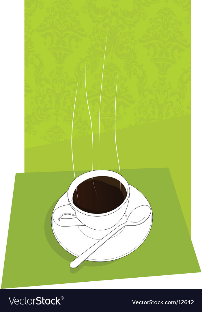 Little cup of italian espresso vector | Price: 1 Credit (USD $1)