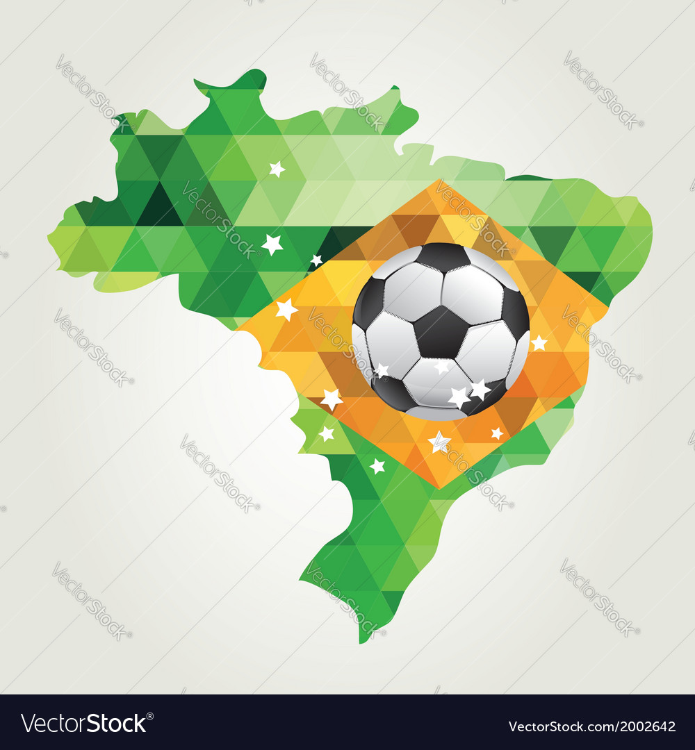 Poster soccer world game design concept brazil vector | Price: 1 Credit (USD $1)