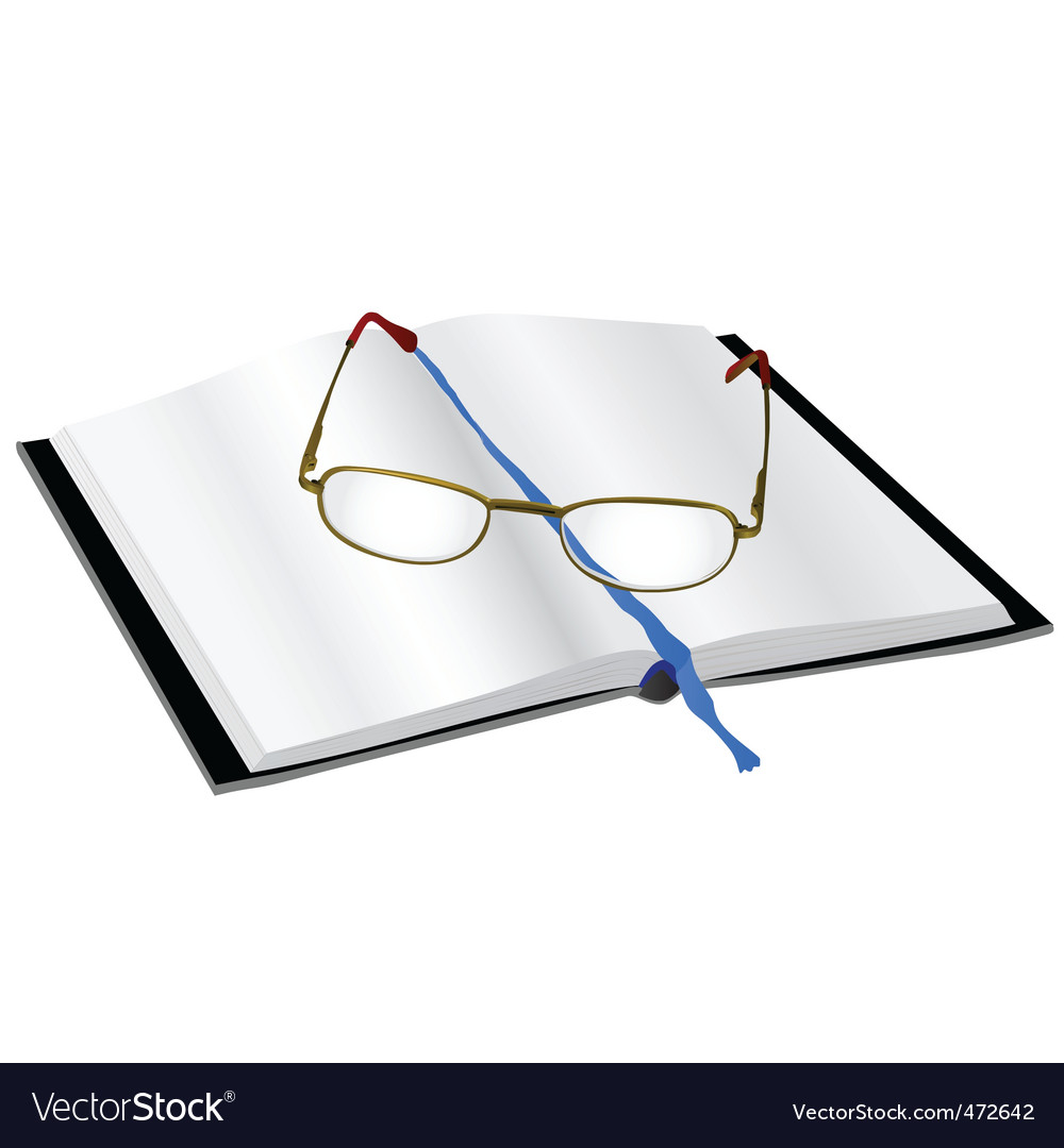 Reading glasses on a book vector | Price: 1 Credit (USD $1)