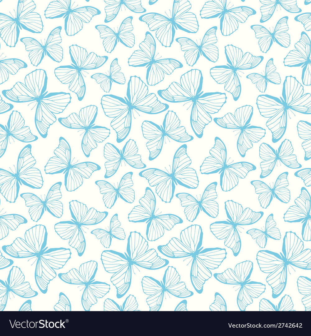 Seamless pattern with hand drawn outline vector | Price: 1 Credit (USD $1)