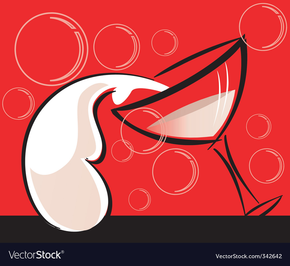 Wine and goblet vector | Price: 1 Credit (USD $1)