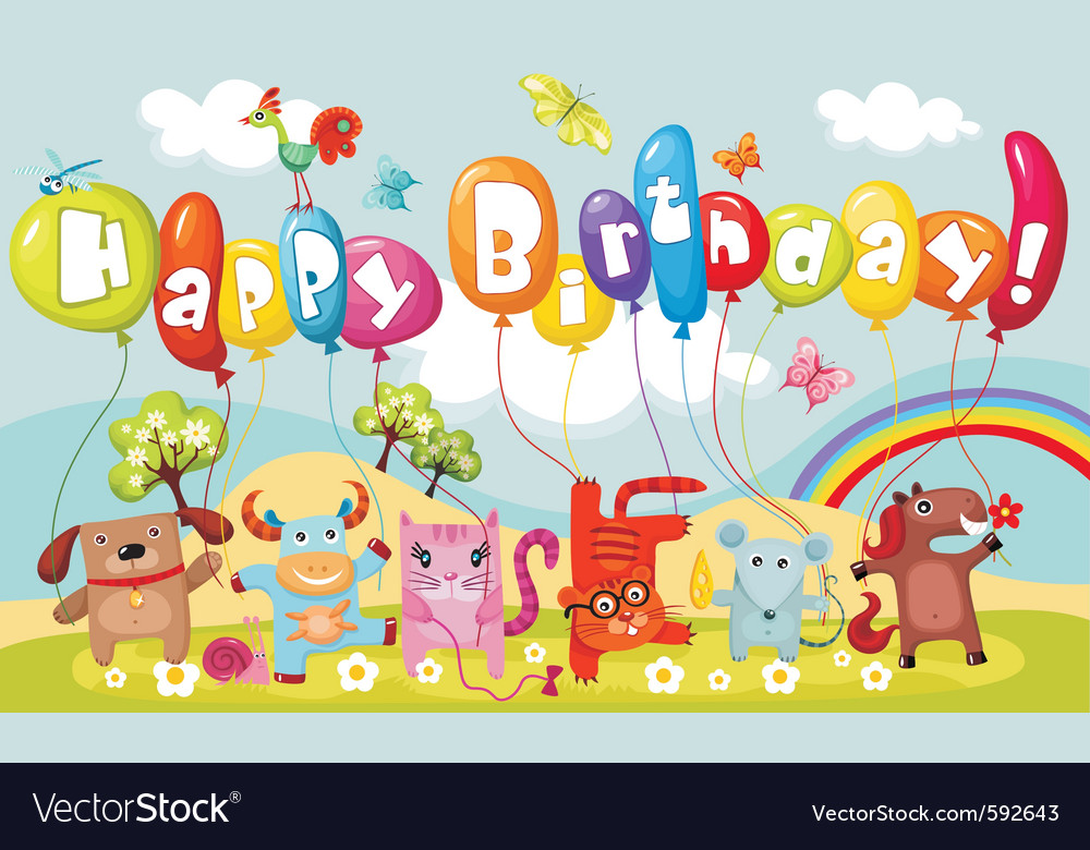 Birthday card vector | Price: 3 Credit (USD $3)