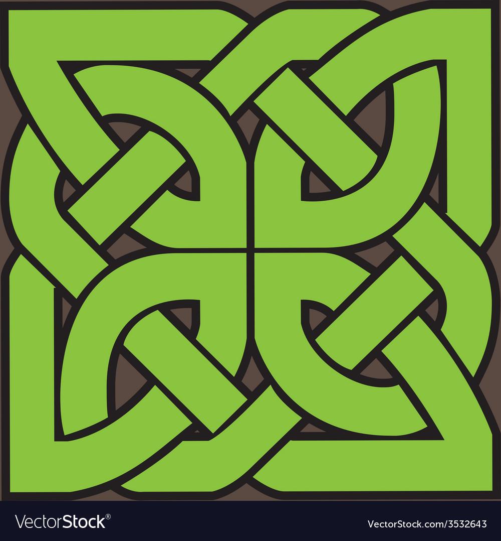 Celtic floral symbol vector | Price: 1 Credit (USD $1)