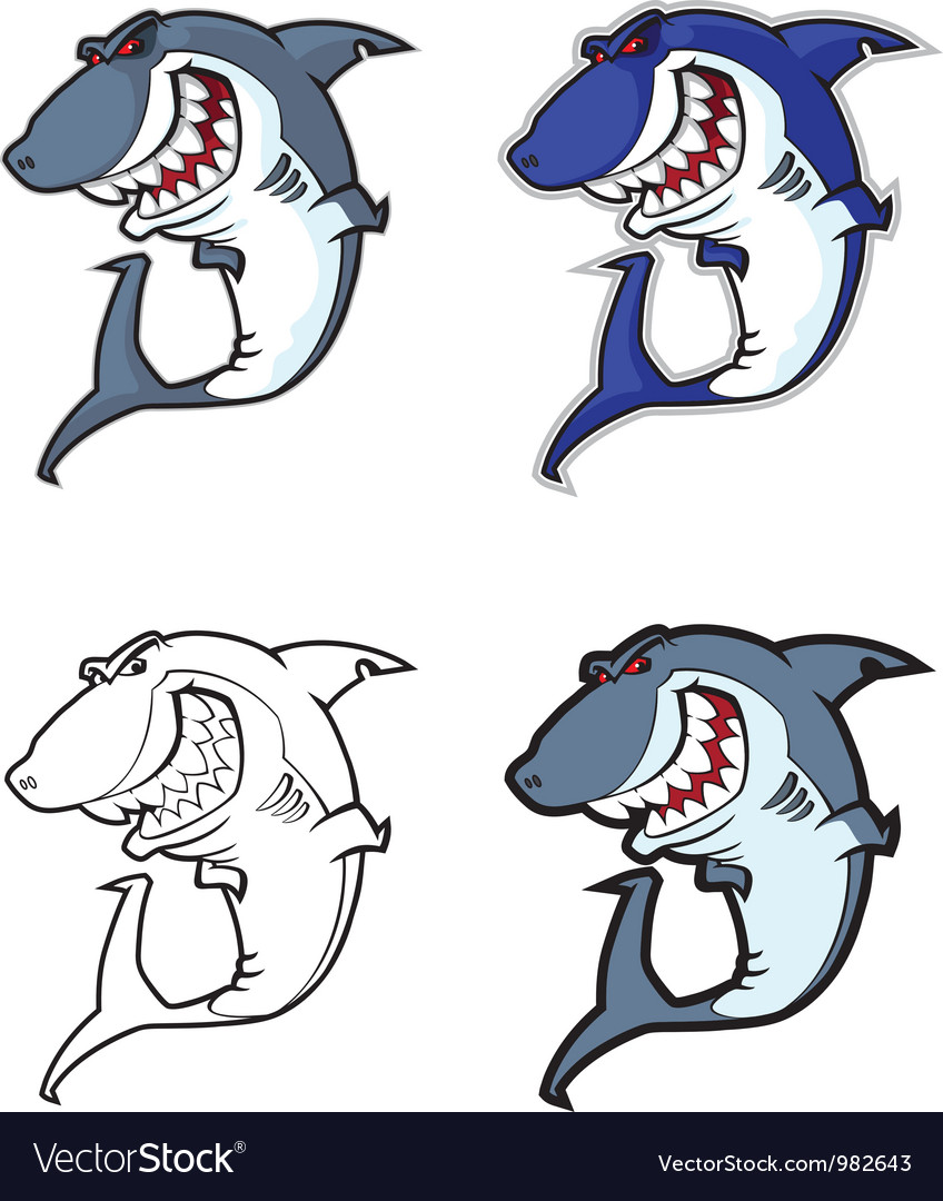 Evil shark mascot vector | Price: 3 Credit (USD $3)