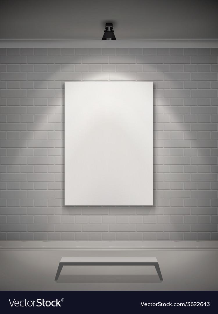 Gallery interior realistic vector | Price: 1 Credit (USD $1)