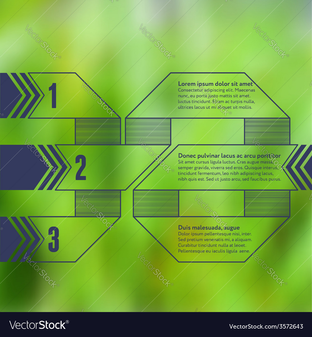 Numbered business infographic with blurry vector | Price: 1 Credit (USD $1)