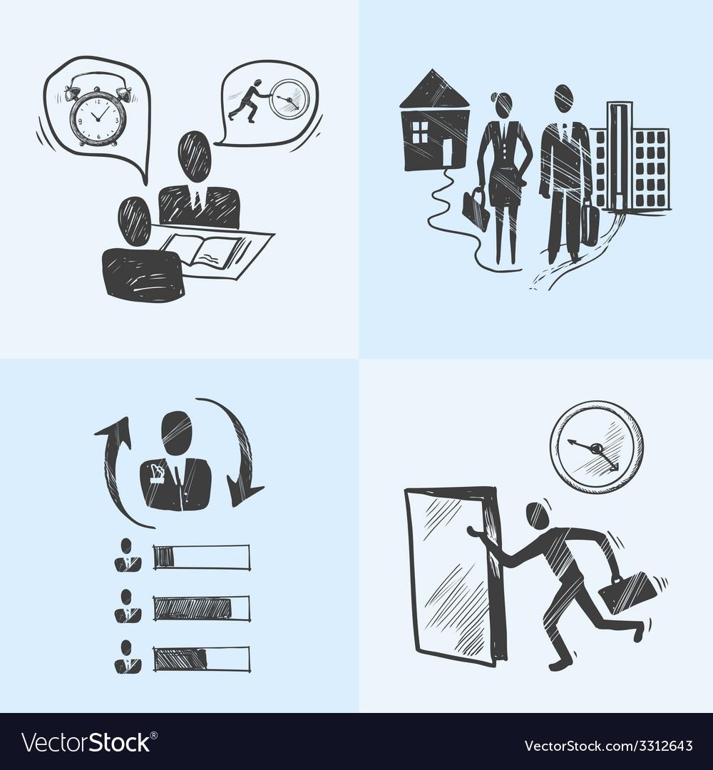 Office sketch design concept vector   Price: 1 Credit (USD $1)