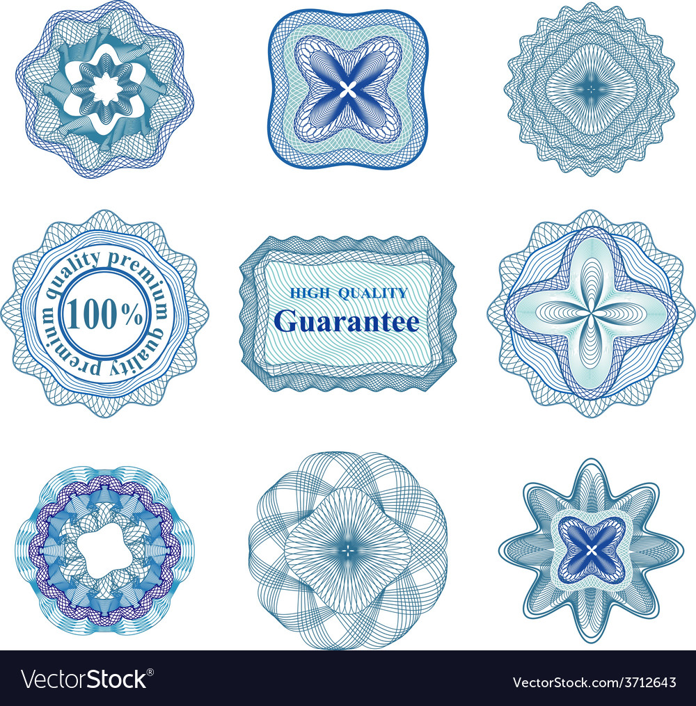 Rossete elements for diploma or certificate vector | Price: 1 Credit (USD $1)