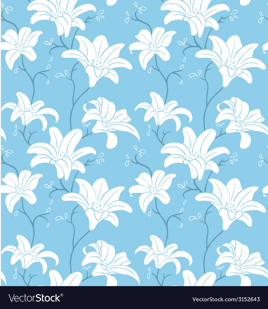 Seamless floral pattern background vector | Price: 1 Credit (USD $1)