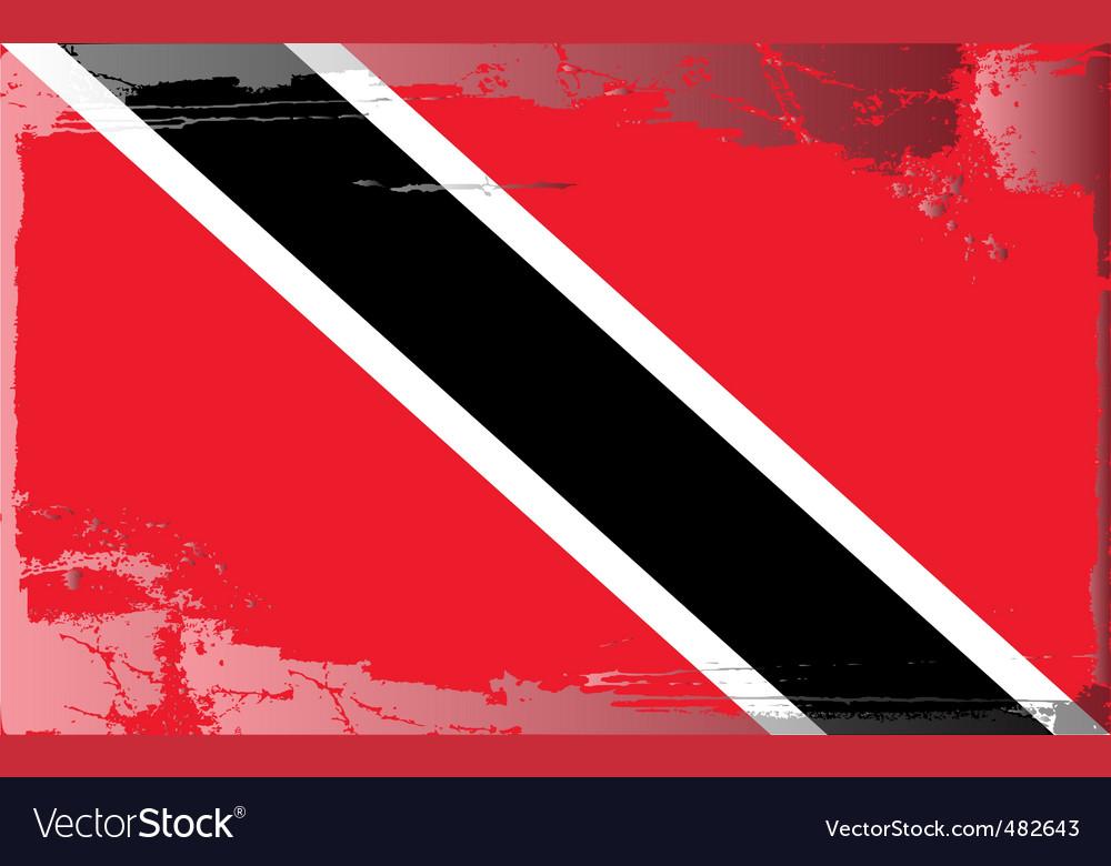 Trinidad and tobago flag vector | Price: 1 Credit (USD $1)