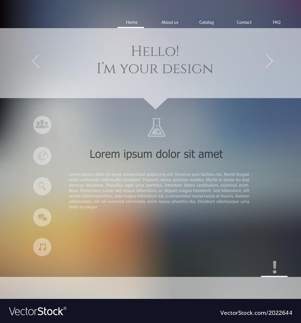 Blurred web design template vector | Price: 1 Credit (USD $1)