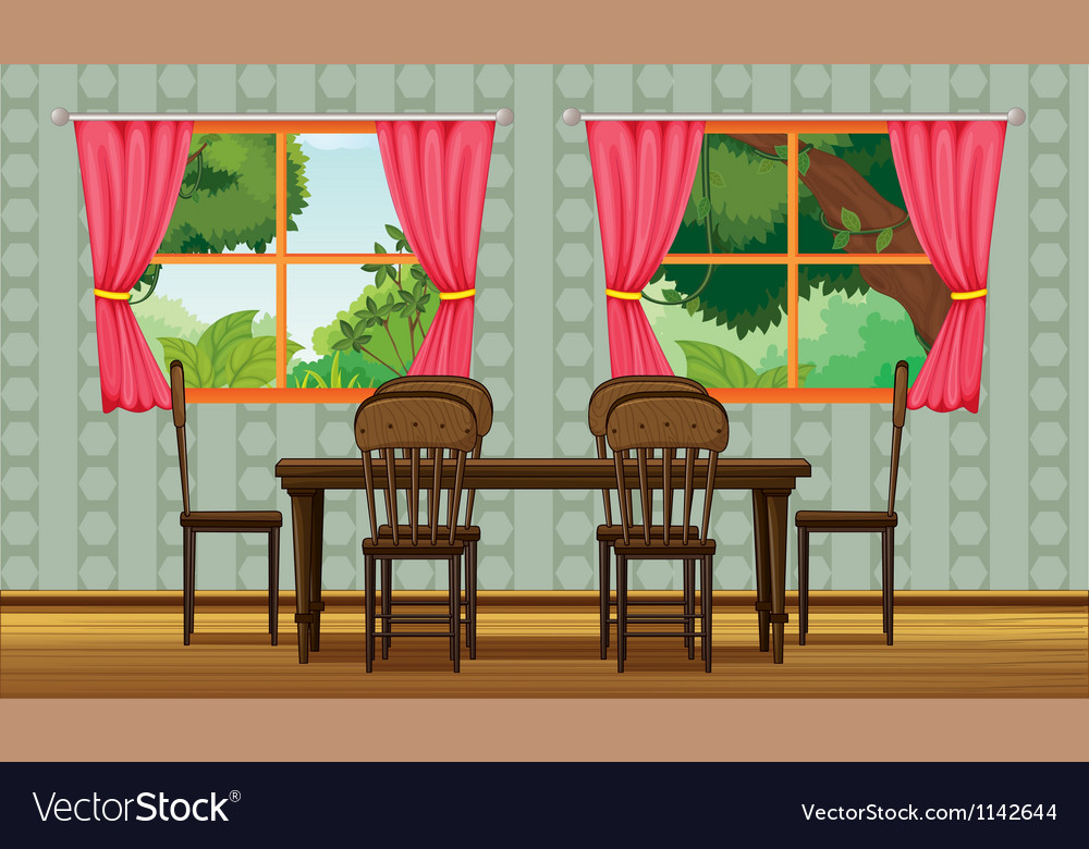 Colorful dining room vector | Price: 1 Credit (USD $1)
