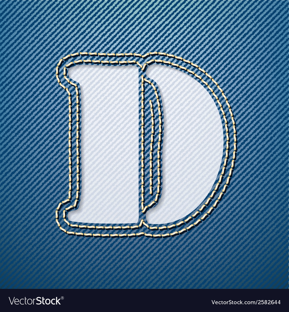 Denim jeans letter d vector | Price: 1 Credit (USD $1)