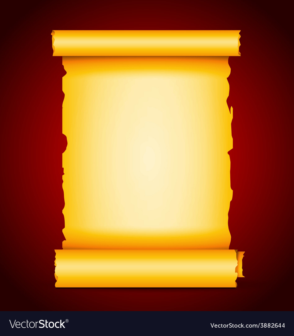 Gold scroll vector | Price: 1 Credit (USD $1)