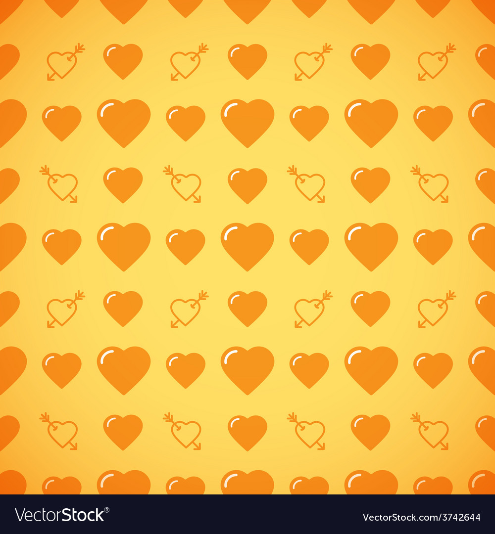 Lovely heart romantic pattern vector | Price: 1 Credit (USD $1)