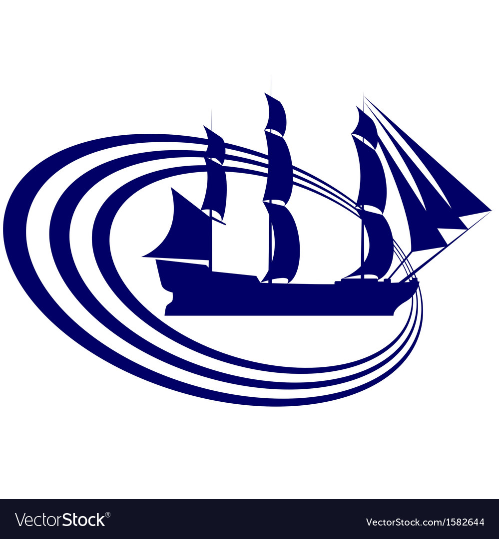 Sailing ship-13 vector | Price: 1 Credit (USD $1)
