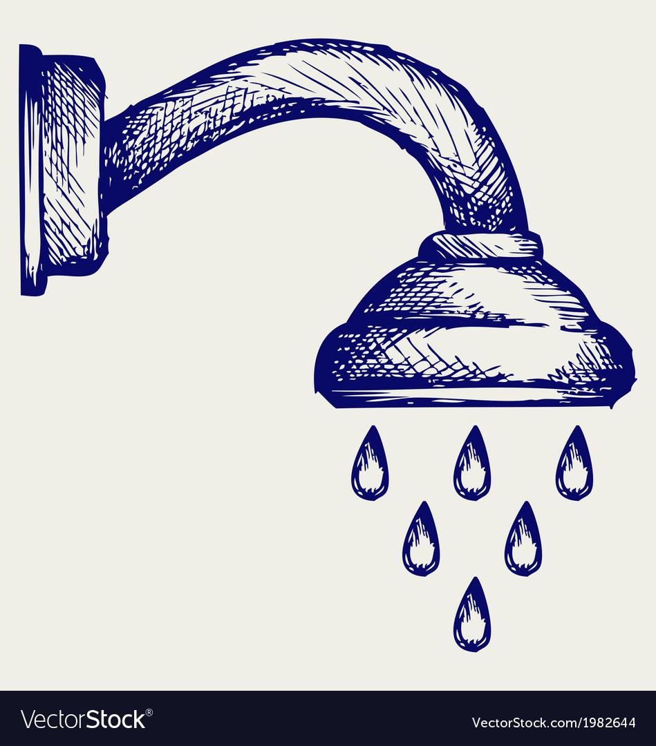 Shower head vector | Price: 1 Credit (USD $1)