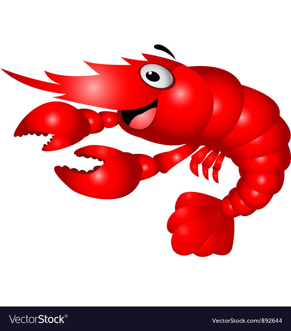 Shrimp cartoon vector | Price: 1 Credit (USD $1)