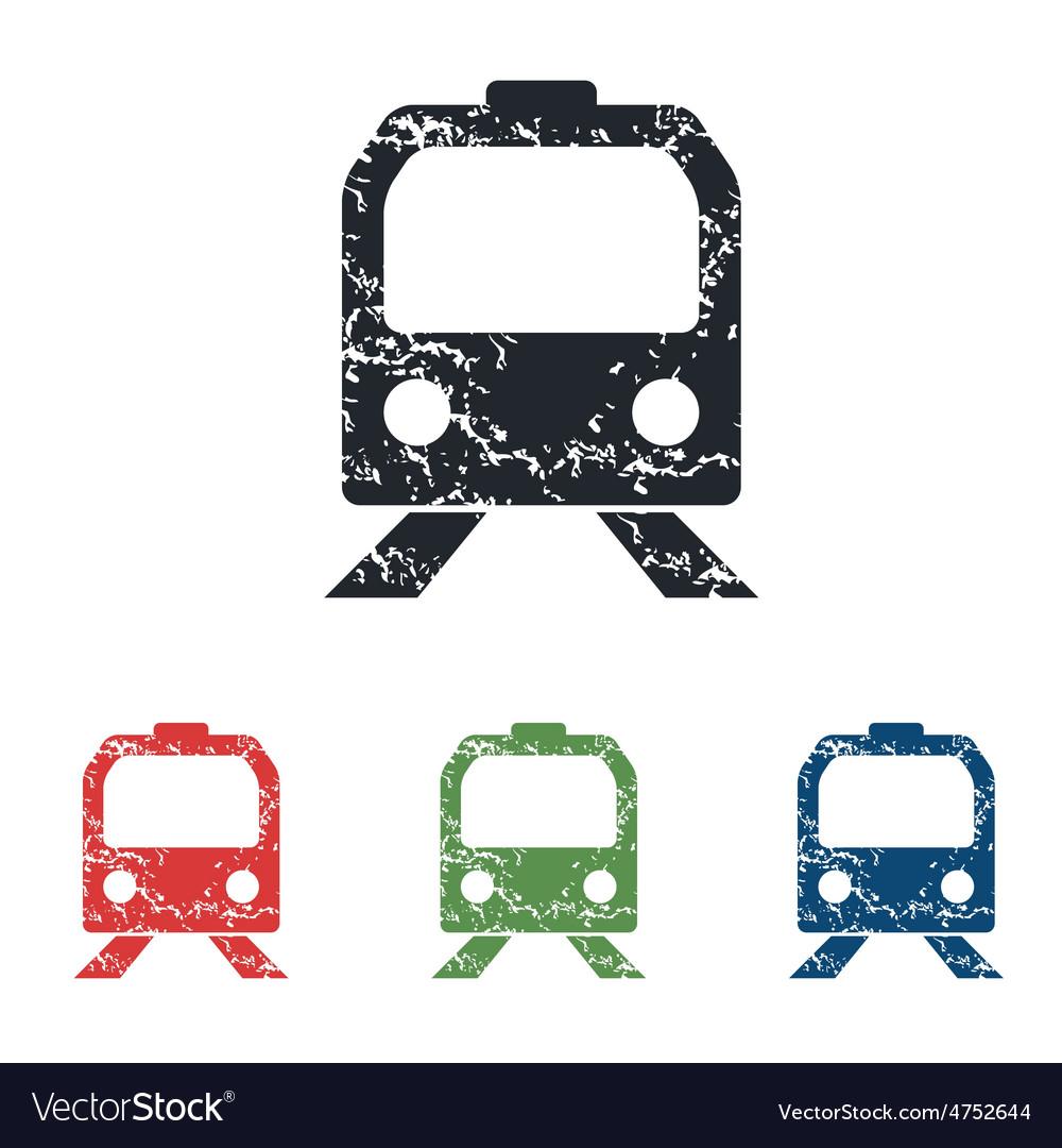 Train face grunge icon set vector   Price: 1 Credit (USD $1)