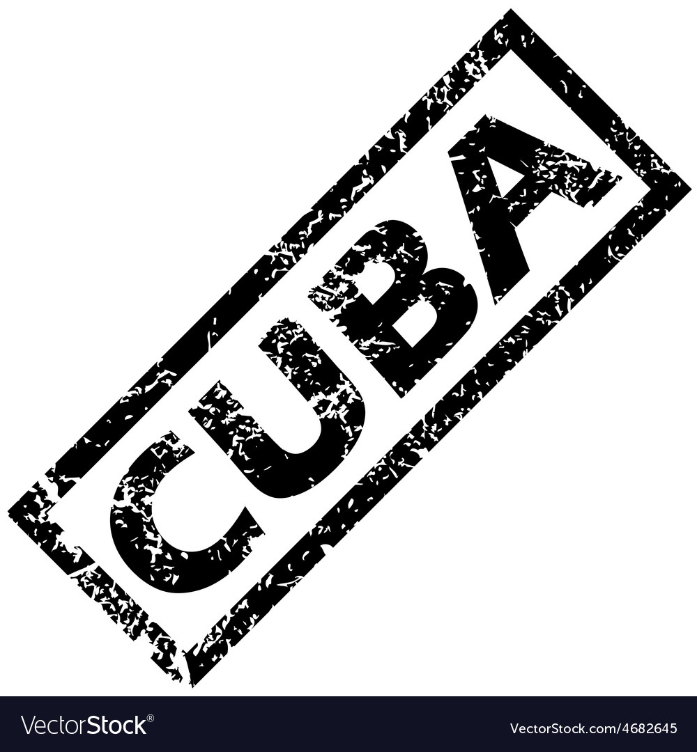 Cuba rubber stamp vector | Price: 1 Credit (USD $1)