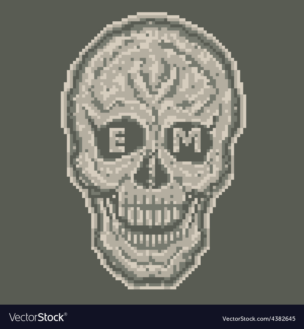 Digital skull vector | Price: 1 Credit (USD $1)