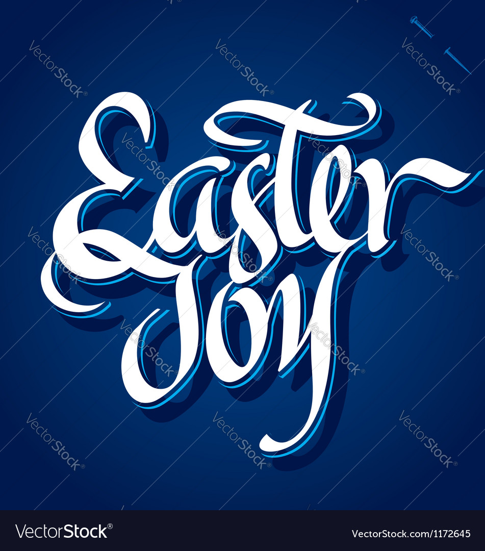 Easter joy hand lettering vector | Price: 1 Credit (USD $1)