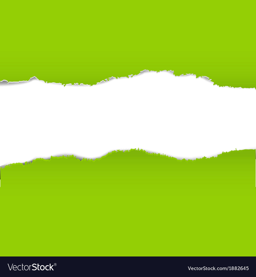 Green torn paper borders background vector | Price: 1 Credit (USD $1)