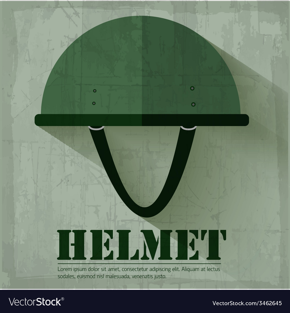 Grunge military helmet icon background concept vector | Price: 1 Credit (USD $1)