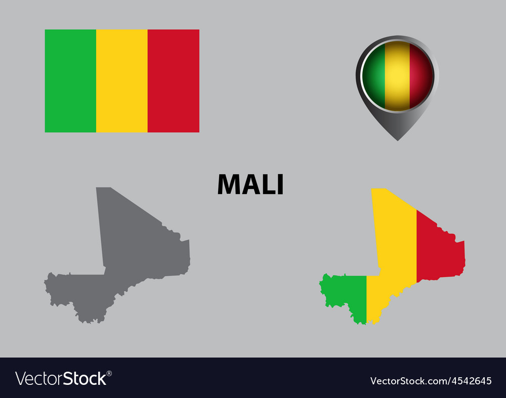 Map of mali and symbol vector | Price: 1 Credit (USD $1)