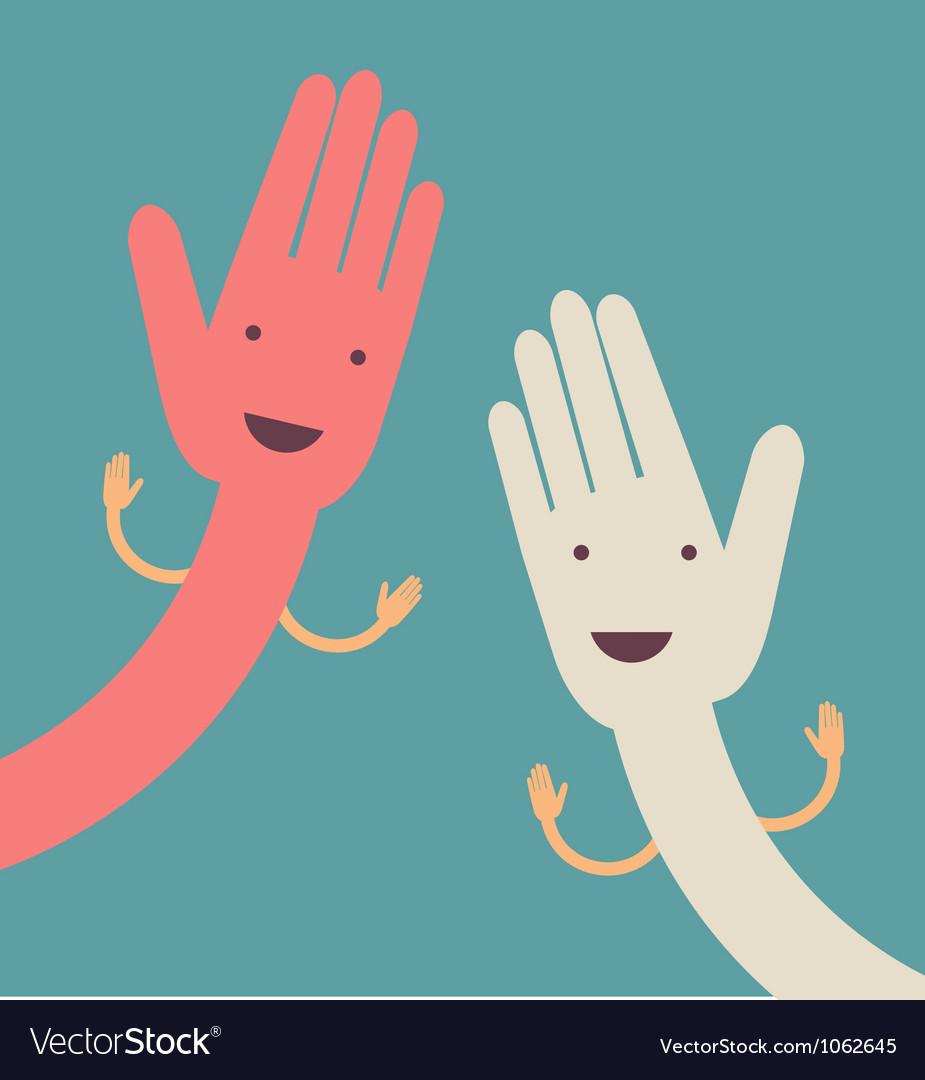 Open hand vector | Price: 1 Credit (USD $1)