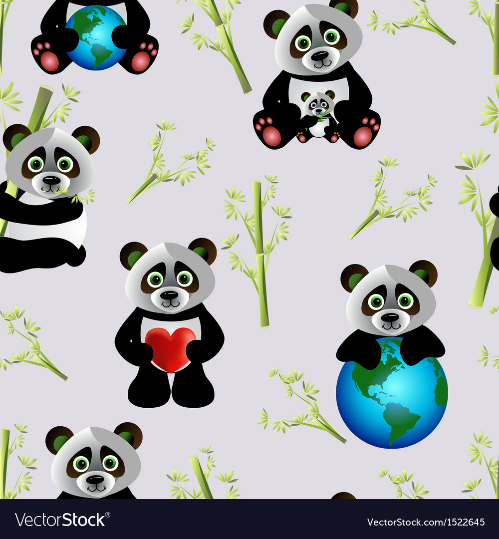 Panda with earth vector | Price: 1 Credit (USD $1)